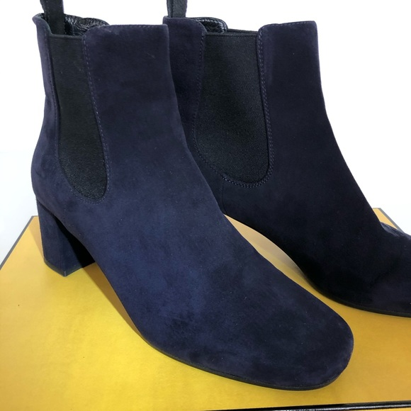 Womens Nwot Blue Suede Boots Size 395